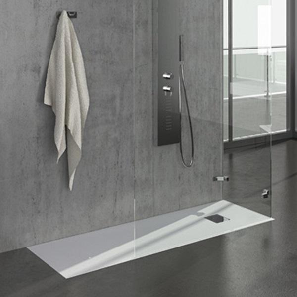 Grandform personalizza il tuo bagno linea piatti doccia ardesia - Piatto doccia con piastrelle ...