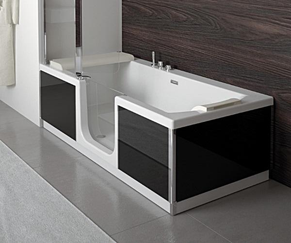 Grandform vasca e doccia 2 in 1 con le vasche double for Vasca e doccia combinate