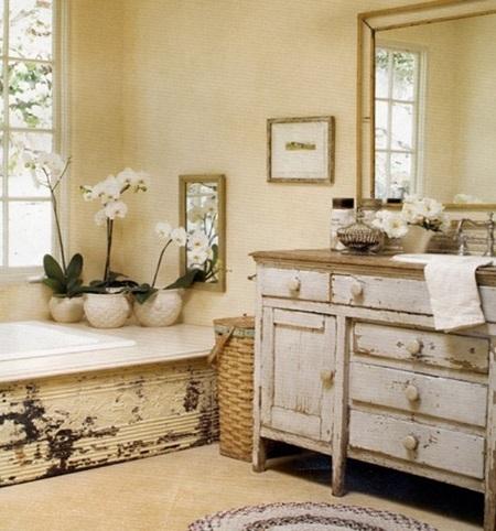 Arreda il tuo bagno con lo stile rustico