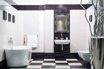 Se ami lo stile optical scegli il bagno in bianco e nero - Bagno bianco e nero ...