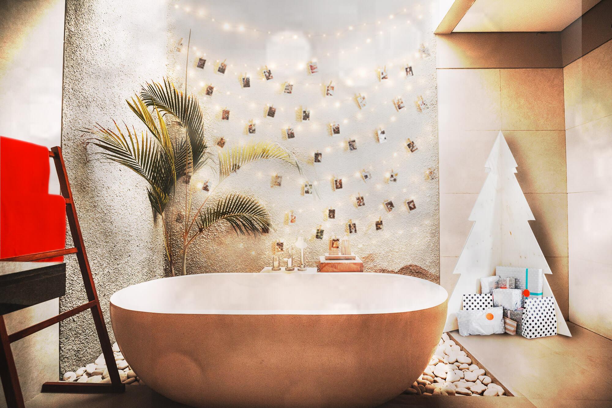 Bagno in cemento e graniglia con decori e mosaico artistico mm