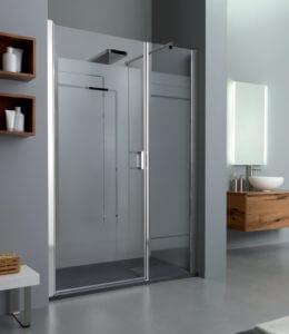 Box doccia Grandform con piatto doccia natural stone
