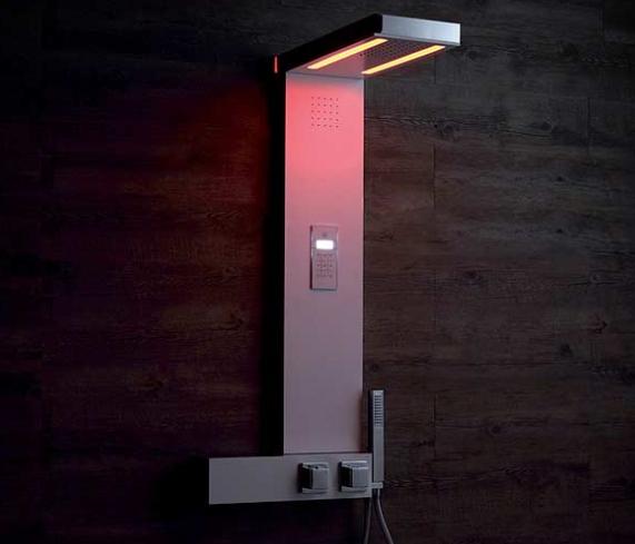 Soffione doccia con luci LED